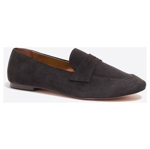 J. Crew Charcoal Suede Penny Loafers Sz 8